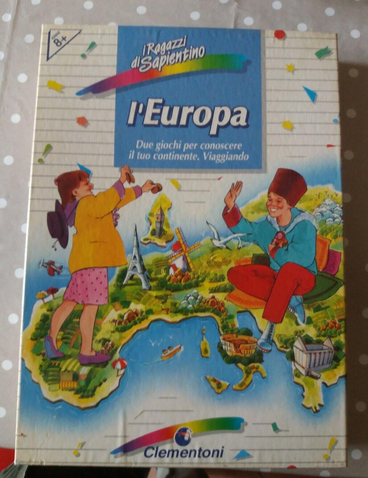 GIOCO DA TAVOLO VINTAGE SOCIETA' CLEMENTONI SAPIENTINO L' EUROPA  COMPLETO
