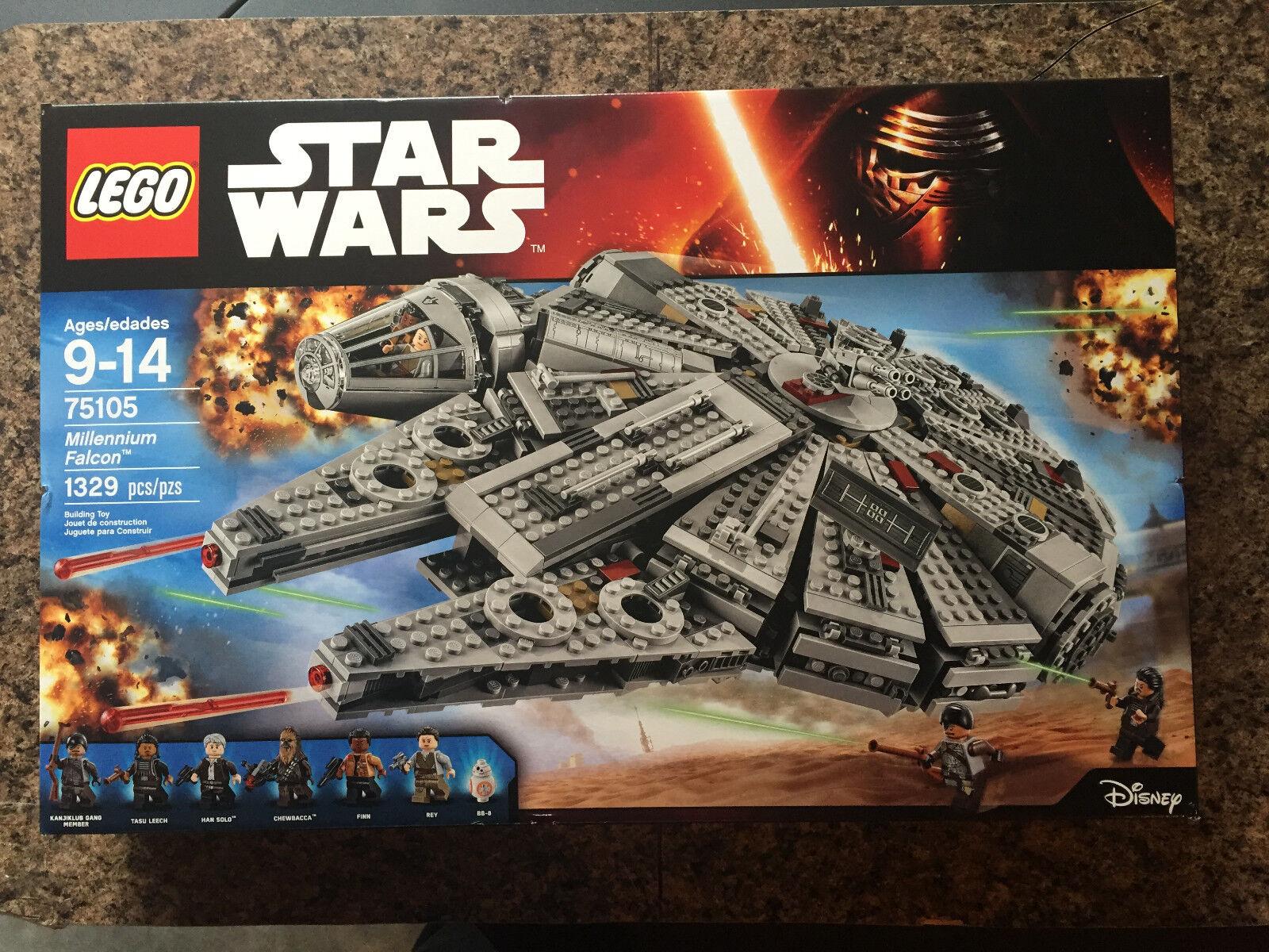 SEALED LEGO Star Wars MILLENNIUM FALCON 75105 Han Solo BB-8 Finn Rey Tasu Leech