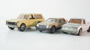 3-x-siku-VW-pickup-Opel-Kadett-Sr-range-rover-maqueta-de-coche-z-491