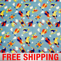 Fleece Fabric Airplane Helicopter 60 Wide Free Shipping Style Pt 783
