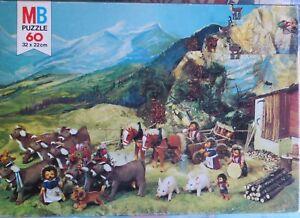 Puzzle-Steiff-serie-Teddy-herisson-Mecki-1975-MB-Cavahel-Vintage