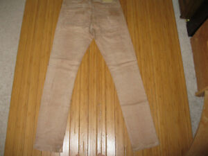 88342d54ad Details about Men s BENCH Jeans Brown Tan Skinny Distressed Stretch  Button-Fly Pants Size 30