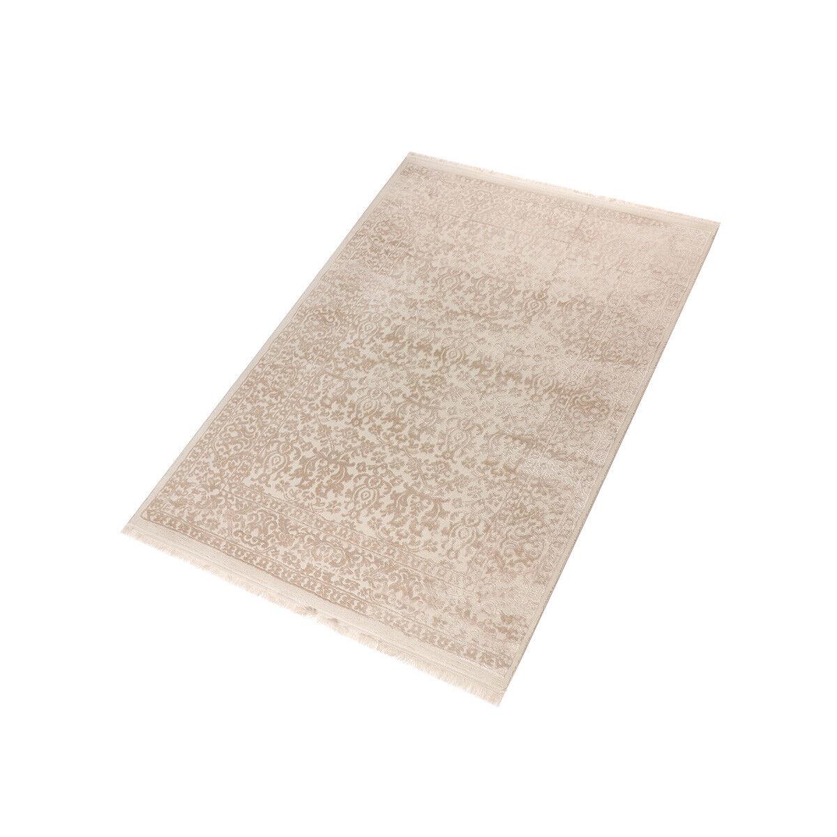 Moderner Teppich Craft Flora - Farbe  Beige     pflegeleicht und farbecht d5ec75