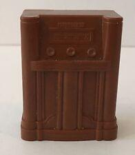 Dollhouse Miniature Vintage RELIABLE Brown Floor Radio Furniture Plastic