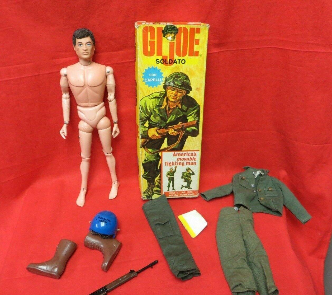 1964 vintage GI JOE joezeta  BARAVELLI Soldato Top Loader Coffret Soldier Palitoy