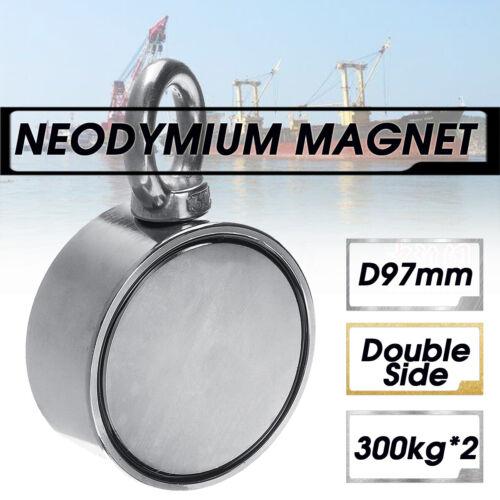 45-230-600kg Pull Recovery Magnet Fishing Treasure Hunting Neodymium Metre Rope