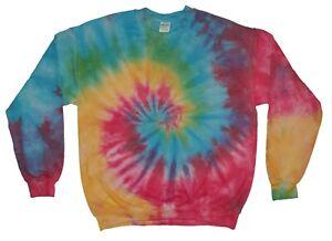 Rainbow-TIE-DYE-Jumper-Spiral-Hipster-Fashion-Tye-Die-T-Shirt-Festival-Hoodie-T