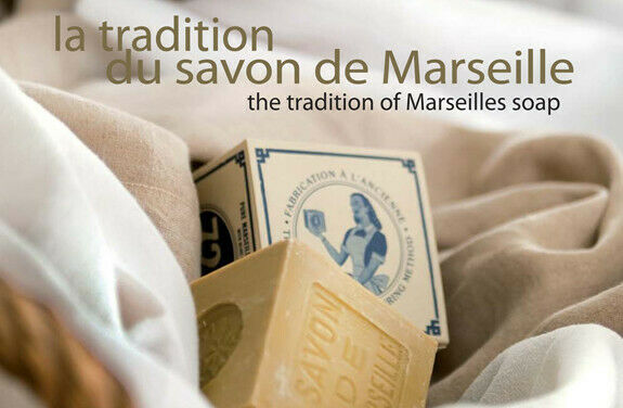French Marius Fabre Marseille Soap - Savon de Marseille - 400g Palm Cube Soap