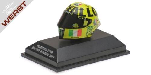 Minichamps 398160086 AGV Helm Valentino Rossi MotoGP Mugello 2016 1:8 NEU /& OVP