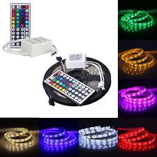 5M RGB 5050SMD 300LED Impermeable Flexible tira de luces LED+44Key