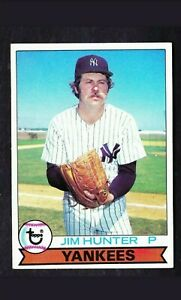 "1979 Topps Jim ""Catfish"" Hunter Baseball Card #670 - New York Yankees HOF"