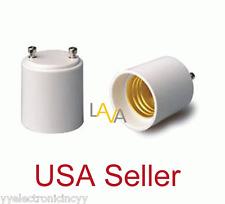 Lot of 12 GU24 to E27/E26 Standard Light Bulb Lamp Holder Adapter Socket