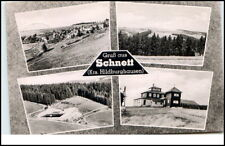 Schnett Kr Hildburghausen Eisfeld DDR 1962 Wald Felder Gesamtansicht Panorama ua