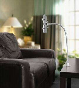 universal bett tisch halterung f ipad samsung tablet silber chrom 85cm ebay. Black Bedroom Furniture Sets. Home Design Ideas