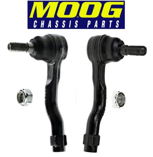 Pair Set of 2 Front Outer Steering Tie Rod Ends Moog for Infiniti FX35 FX45