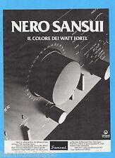 QUATTROR981-PUBBLICITA'/ADVERTISING-1981- SANSUI AU-D11 - AMPLIFICATORE (vers.A)