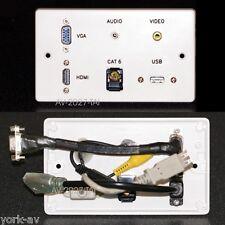 PIASTRA MURO AV, HDMI/VGA/Jack audio/video composito/USB/Rete Prese