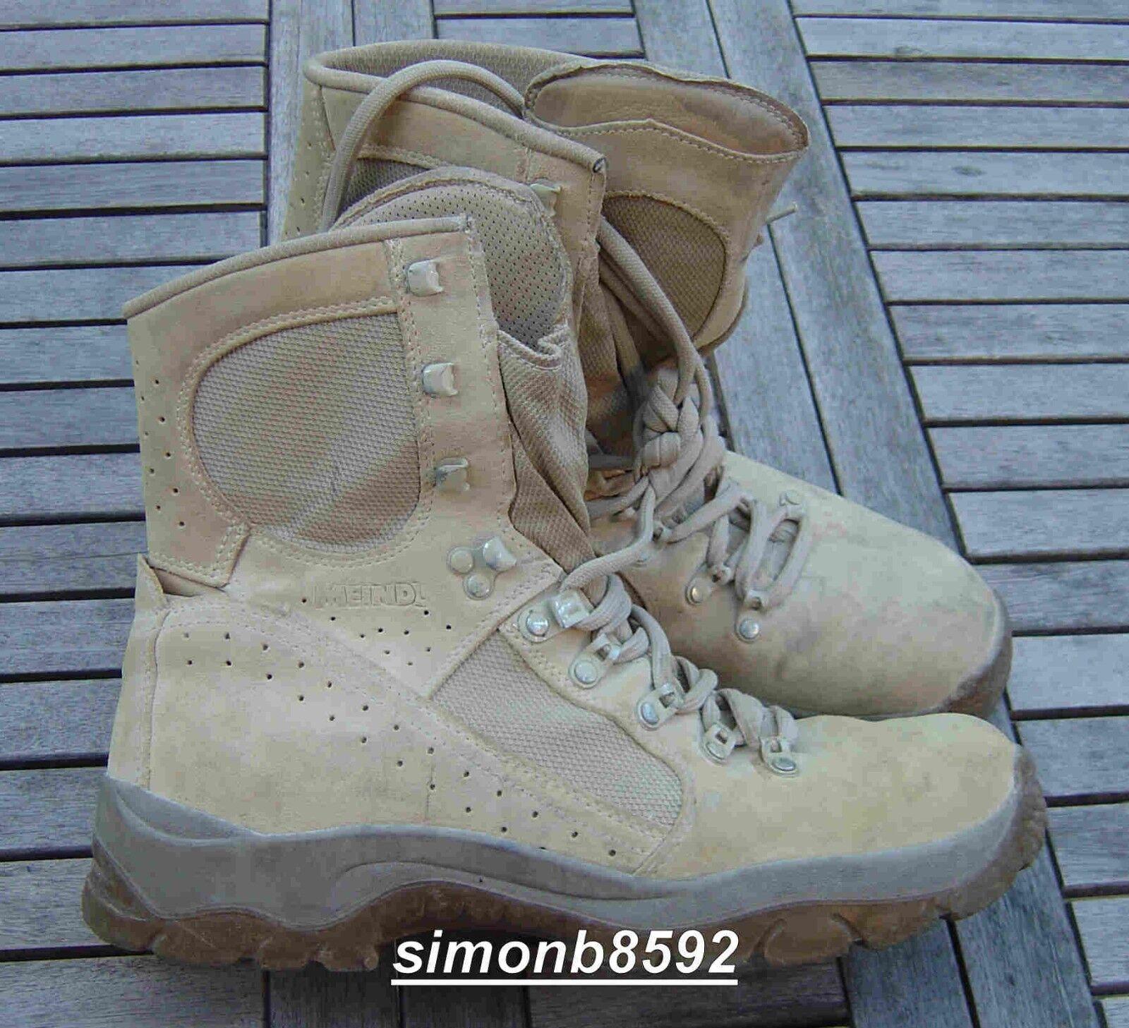 UK Britische Armee Überfluss G1 Meindl Desert Fox Stiefel, hellbraun Wildleder