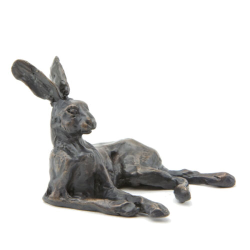 "Bronze Hare ""Lying Hare Maquette"" Sculpture by Sue Maclaurin. Nelson & Forbes"