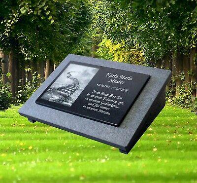 Granit Grabstein GRABPLATTE Grabmal Gedenkstein ► inkl Gravur ◄ 25x20 cm gg4s