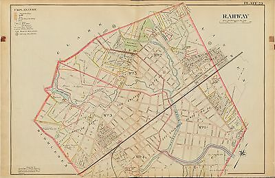 TERESA/'S RC CHURCH ATLAS MAP 1906 SUMMIT UNION NEW JERSEY KENT PLACE SCHOOL ST