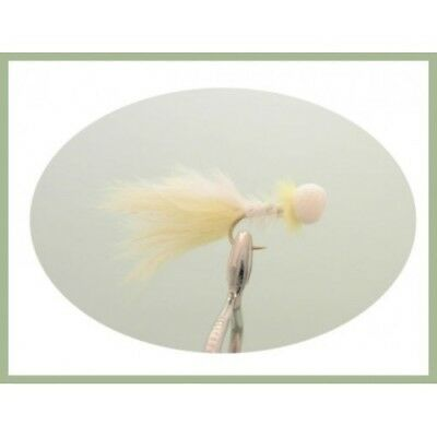 Size 10 Yellow and White Booby Trout Flies 6 Pack Two Tone Future Whisker