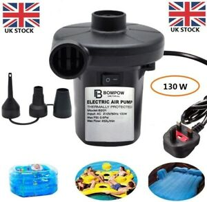 Electric Air Pump Inflator for Inflatables Camping Bed pool Toys 230V Deflator