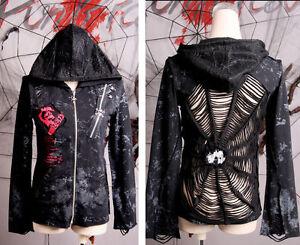 Punk-rave-Cosplay-Fashion-Black-Web-Visual-Kei-Steampunk-Goth-Coat-Jacket-Blouse