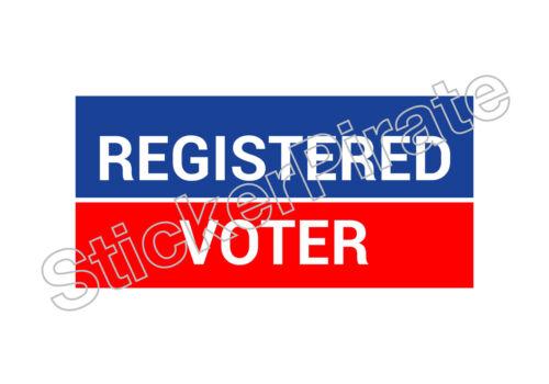 Registered Voter Bumper Sticker TRS 172