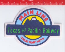 MAIN LINE TEXAS & PACIFIC RAILWAY 80s Patch - toppa - paninaro preppy
