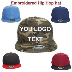 Personalised-Custom-Embroidery-Logo-TEXT-Hip-Hop-Snapback-Flat-Hat-Visor-Cap