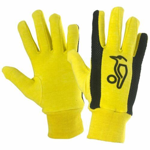 Kookaburra Plain Cotton Full Finger Yellow Mesh Wicket Keeping Inner Gloves