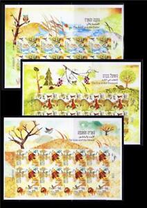 ISRAEL-2017-PARABLES-OF-THE-SAGES-3-STAMP-SHEETS-IMPERFORATE-MNH