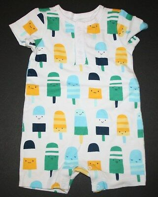 NWT Gymboree newborn Essentials Baby Boys Giraffe Summer romper6-12 M