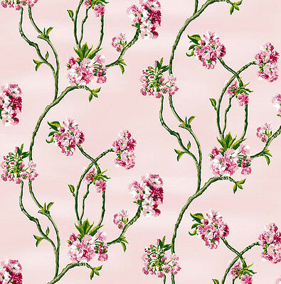 Dolls House Wallpaper 1/12th 1/24th scale Pink Quality Paper #101