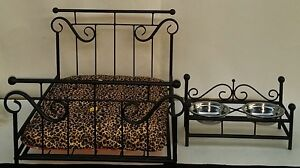 Image Is Loading Custom Made Wrought Iron Dog Cat Pet Bed