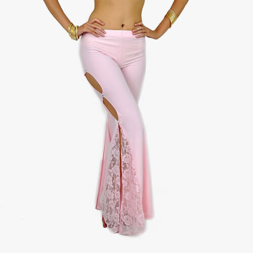New Belly Dance Costume Flank Openings Lace Trousers Pants 9 Colors