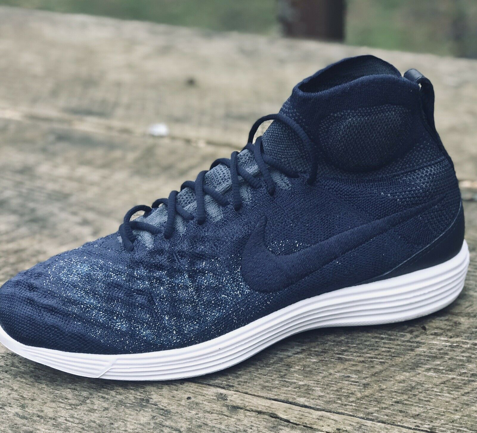 c23cf9ccc2 New 200 Nike Lunar Magista 2 II Flyknit FC Training shoes - Navy bluee Mens  10