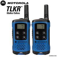 Motorola TLKR T41 2 Way Walkie Talkie Gift Set PMR 446 Radio Kit - Blue, 2 Pack