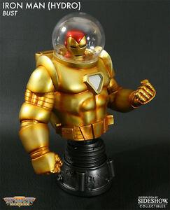 Marvel Comics - Figurine buste en forme de statue de 7 po avec Hydro Iron Classic de Iron Man, Avengers 610740111135   Statue Bust Figure, Boxed Avengers 610740111135