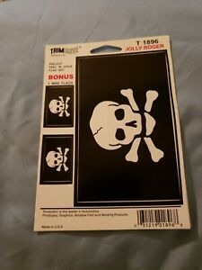 Jolly-Roger-Decal-1-Large-Sticker-2-Mini-Stickers-New
