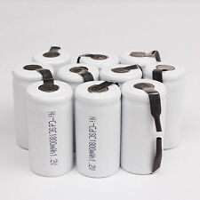 Profession 10 PCS Sub C SC 1.2V 1800mAh Ni-Cd NiCd Rechargeable Battery White