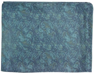 """34.5/"""" 42/"""" Wyoming Traders Wild Rags Frontier Calico Blue Silk Western Scarf"""