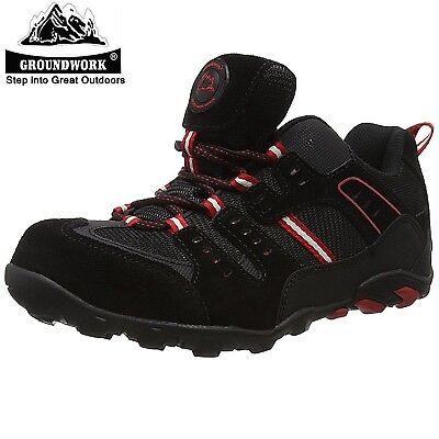 Mens Groundwork Lightweight Leather Steel Toe Cap Safety Work Boots Trainers Sz Gut Verkaufen Auf Der Ganzen Welt