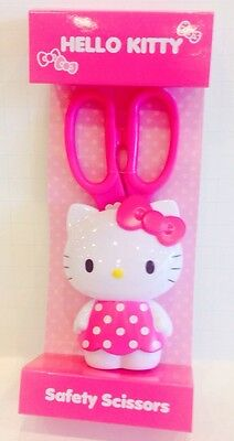NEW SANRIO HELLO KITTY PINK DESIGN SAFETY SCISSORS (100% Authentic Brand New)
