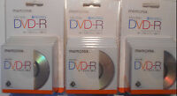 Lot Of 3 Packs Memorex Mini Dvd-r Disc 5-pack - 30 Min - 1.4gb - Single-sided