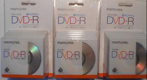 Lot-of-3-Packs-MEMOREX-Mini-DVD-R-Disc-5-pack-30-min-1-4GB-Single-Sided
