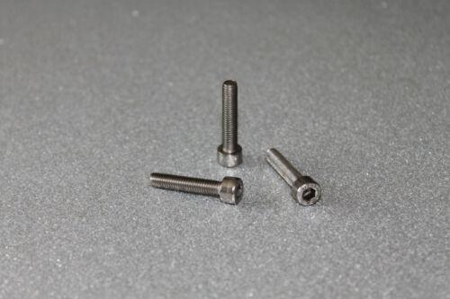 Edelstahl A2 M3 Zylinderkopf Innensechskantschrauben DIN 912 25 Stück M3x12