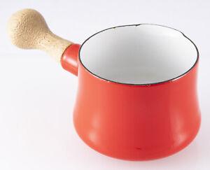 Mid Century Modern Dansk Kobenstyle Red Enamel Sauce Pot JHQ France