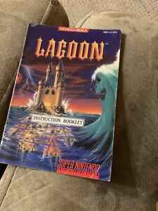 Original Authentic LAGOON Instruction Manual Booklet Only SNES Super Nintendo